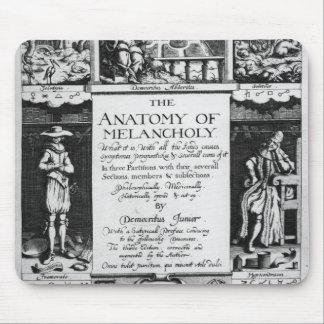 La anatomía de la melancolía tapetes de raton
