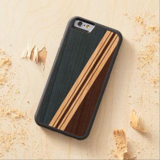 La anchura variada raya el iPhone de madera Funda De iPhone 6 Bumper Cerezo