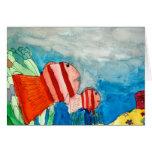 La anémona de mar de los pescados del payaso tarjeta