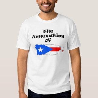 La anexión de la camiseta del color de Puerto Rico Playera