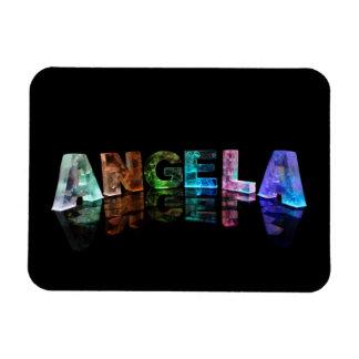 La Angela conocida en luces Imán De Vinilo