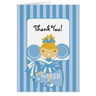 La animadora azul del KRW le agradece observar Tarjeton