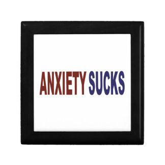 La ansiedad chupa caja de recuerdo