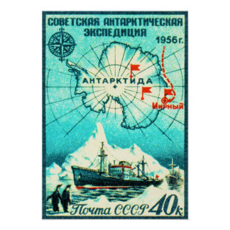La Antártida 1956 Posters