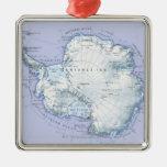La Antártida Adorno Navideño Cuadrado De Metal
