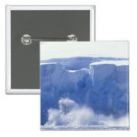 La Antártida, bahía del paraíso, formas de onda ma Pin Cuadrada 5 Cm