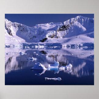 La Antártida, bahía del paraíso Póster