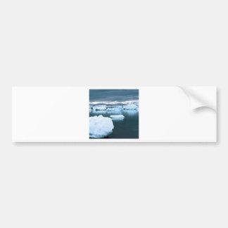 La Antártida congelada invierno Pegatina De Parachoque