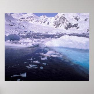 La Antártida. Expedición a través de icescapes Poster