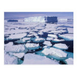 La Antártida, flujo del hielo Postal