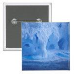 La Antártida. Iceberg con las ondas de fractura Pin Cuadrado