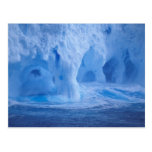 La Antártida. Iceberg con las ondas de fractura Postal