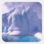 La Antártida. Icescapes antárticos Calcomania Cuadradas Personalizada