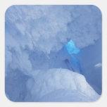 La Antártida, isla de Ross, cabo Evans, cueva de Calcomania Cuadrada Personalizada