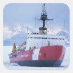 La Antártida, isla de Ross, estación de McMurdo, Pegatina Cuadrada