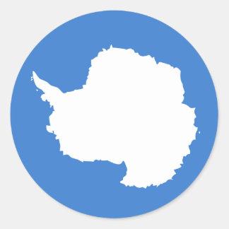 la Antártida Etiqueta Redonda