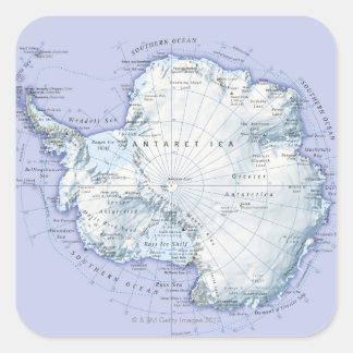 La Antártida Pegatina Cuadrada