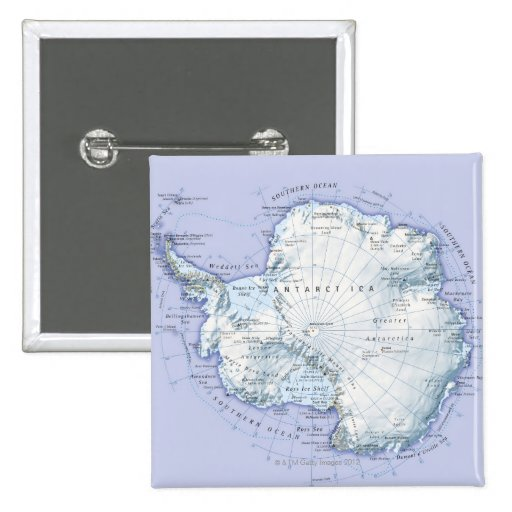 La Antártida Pin Cuadrada 5 Cm