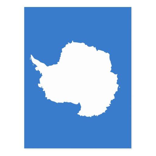 la Antártida Tarjeta Postal