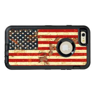 La antigüedad aherrumbró la bandera americana los funda OtterBox defender para iPhone 6 plus