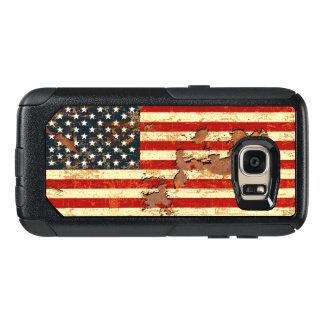 La antigüedad aherrumbró la bandera americana los funda otterbox para samsung galaxy s7