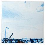 La antigüedad de Amsterdam envía la apariencia Azulejo