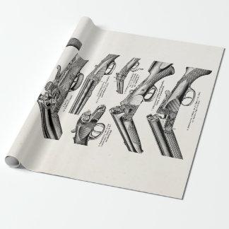 La antigüedad de la escopeta de los 1800s del papel de regalo