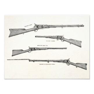 La antigüedad de la escopeta de los 1800s del vint fotografía