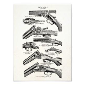 La antigüedad de la escopeta de los 1800s del vint fotografías