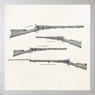 La antigüedad de la escopeta de los 1800s del vint poster