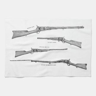 La antigüedad de la escopeta de los 1800s del vint toalla de mano