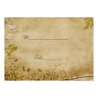 La antigüedad florece la tarjeta del lugar de la t tarjeta de visita