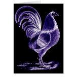 La antigüedad inspiró el gallo futurista retro de  tarjetas