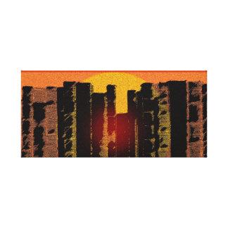 La antigüedad reserva puesta del sol la puesta del impresion de lienzo
