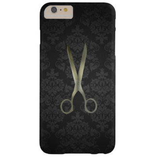 La antigüedad Scissor el damasco negro Funda De iPhone 6 Plus Barely There