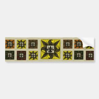 La antigüedad tejó la flor de lis (el amarillo) pegatina para auto