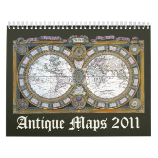 La antigüedad traza 2011 calendario