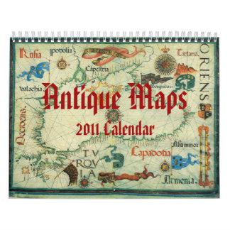 La antigüedad traza 2011 el calendario cartógrafo
