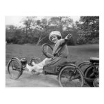 La antigüedad va carro, 1900s tempranos postal