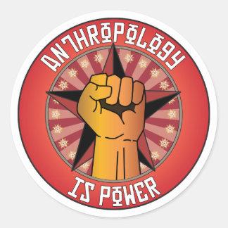 La antropología es poder etiquetas redondas