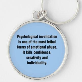 La anulación psicológica es una la mayoría… llavero redondo plateado
