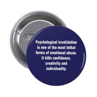 La anulación psicológica es una la mayoría… pin redondo de 2 pulgadas