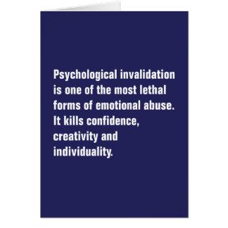 La anulación psicológica es una la mayoría… tarjeta de felicitación