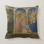 La Anunciación by Fra Beato Angelico Throw Pillows