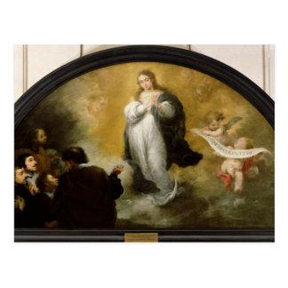 La aparición de la Virgen, 1665 Postal