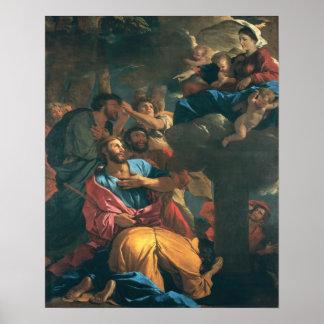 La aparición de la Virgen San Jaime Póster
