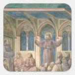 La aparición en la casa del capítulo en Arles Pegatina Cuadrada