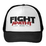 La apatía de la lucha o no humor gorras de camionero