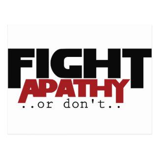 La apatía de la lucha o no humor postal