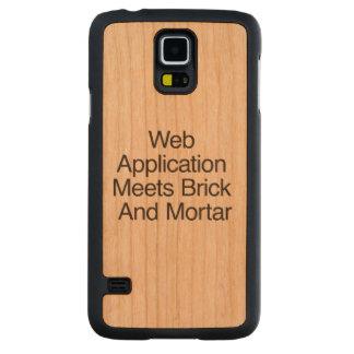 La aplicación web resuelve el ladrillo y Mortar.ai Funda De Galaxy S5 Slim Cerezo